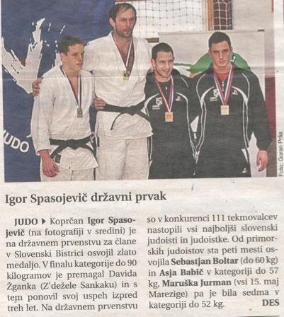 Igor Spasojevič Državni prvak